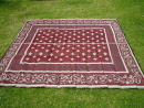 recycled plastic floor mat orissa red