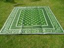 recycled plastic floor mat orissa green