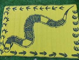 Snake Floor mat available exclusuvely from Leave it to Leslie