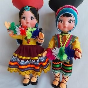 peruvian doll plastic large pair
