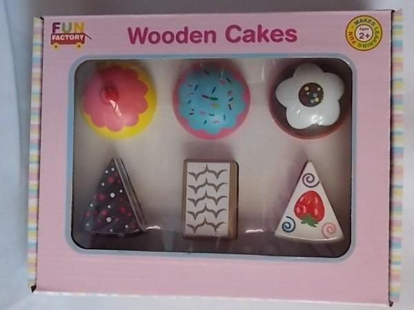 wooden cake set