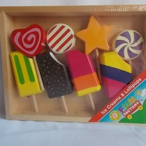 ice cream and lollipop set