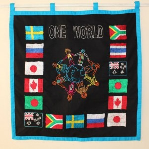 one world wall hanging
