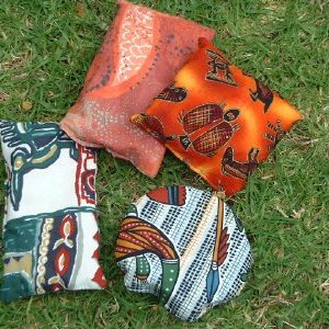 aboriginal pattern fabric bean bags