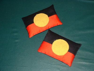 aboriginalflag bean bags