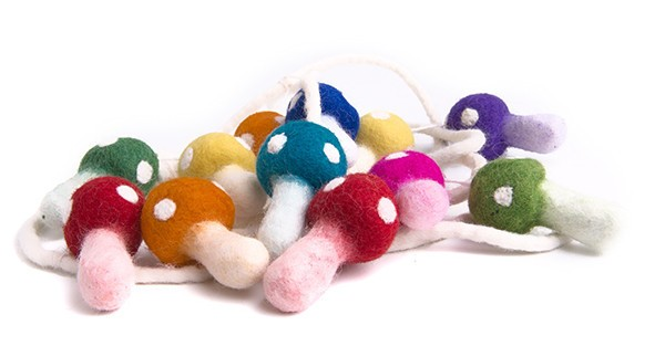rainbow toadstool Garland