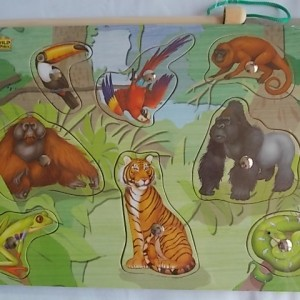 nmagnetic puzzle rinforest animals