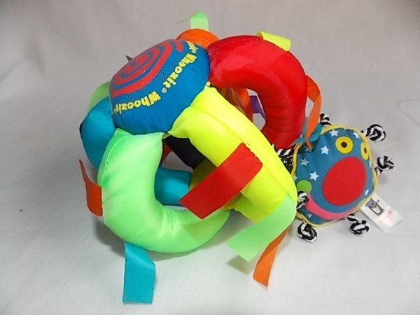 A very popular product for babies is the Whoozit Wiggle Ball.