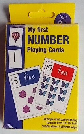 my first number playing cards