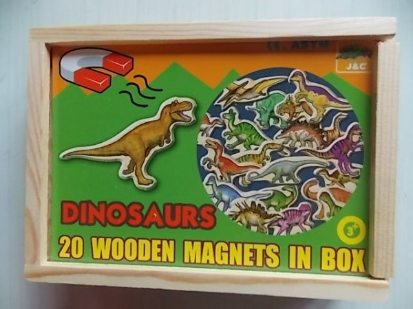 wooden magnetic dinosaurs