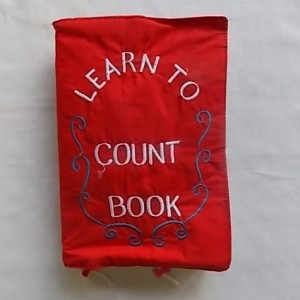 learn to count cloth book