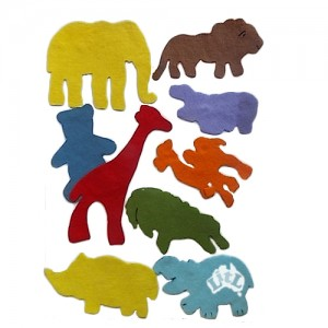 felt animals set