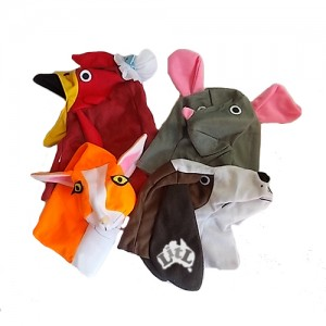 little red hen puppet set