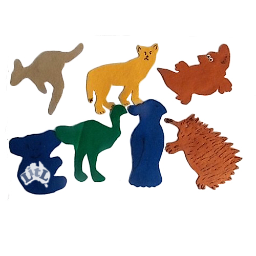 australian animals felt pieces