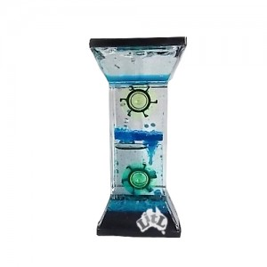 two wheel blue liquid timer