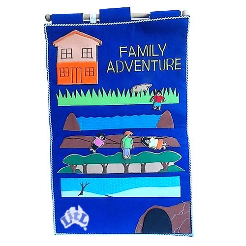 family adventure wall chart