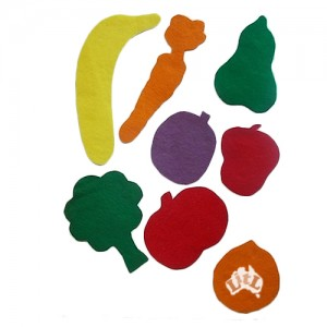 fruit veg felt set