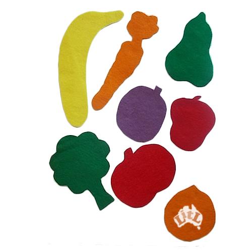fruit veg felt set