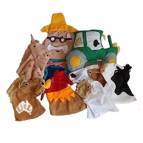 old macdonald farm hand puppets