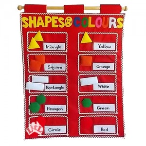 shapes and colours wall chart