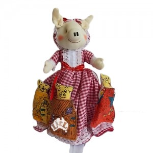 three little pigs reversible doll