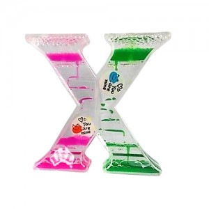 x shape liquid timer