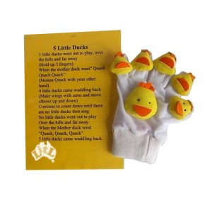 five little ducks hand puppet