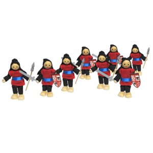 set 8 wooden knights