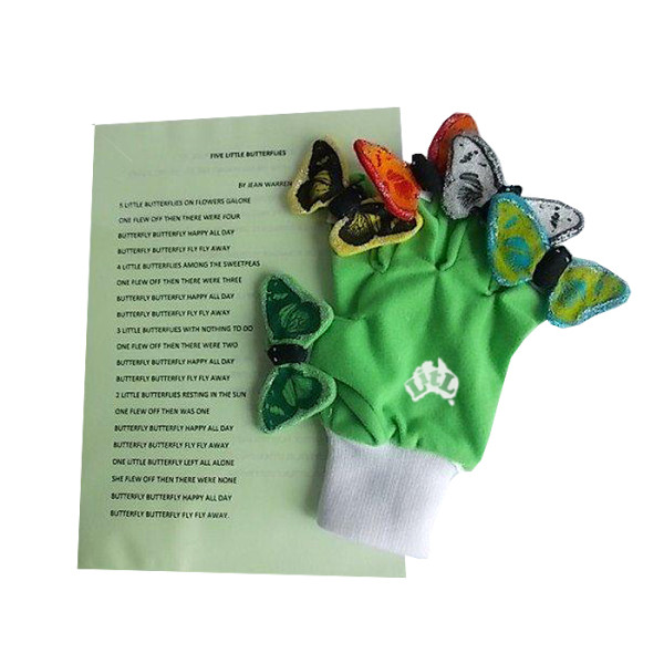 five little butterflies puppet set