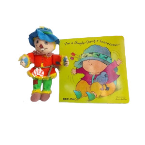 dingle dangle scarecrow finger puppet & book