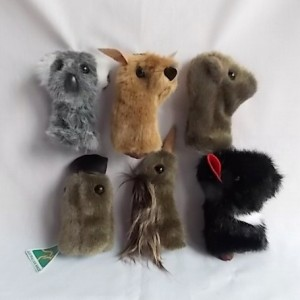 set six australian animal finger puppets