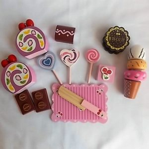 wooden sweet set suitcase