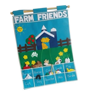 farm friends wall chart