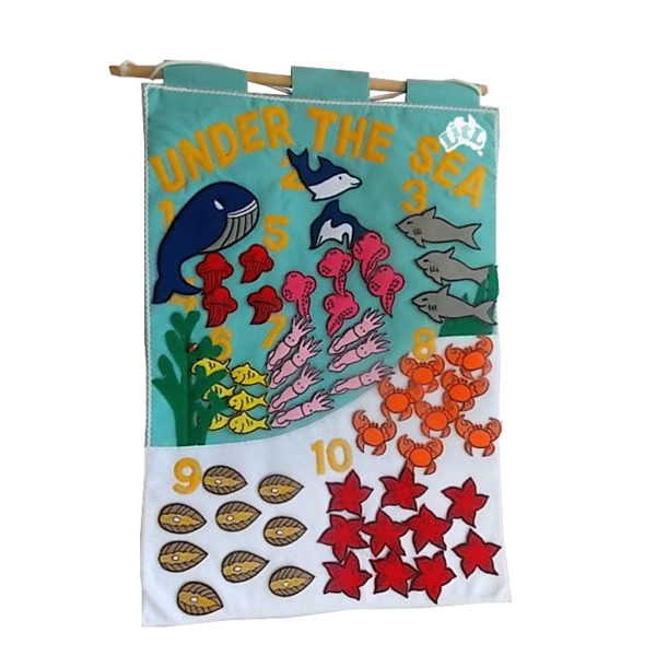 under the sea counting wall chart