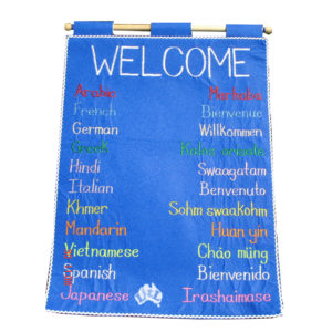 welcome around the worls wall chart