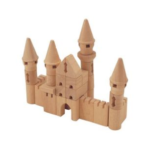 castle set wooden blocks