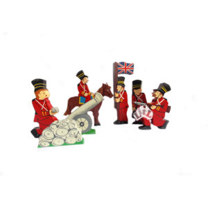 wooden soldiers set of 5
