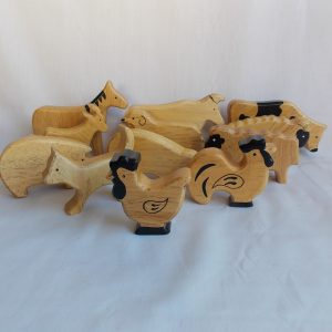 smooth edge wooden farm blocks