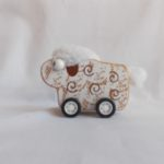 pull back wooden sheep