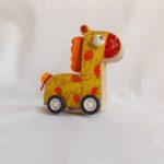 pull back wooden giraffe