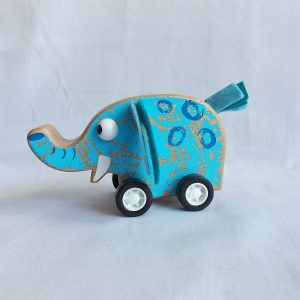 pull back wooden elephant
