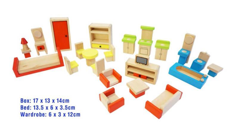 doll house furniture 5 rooms
