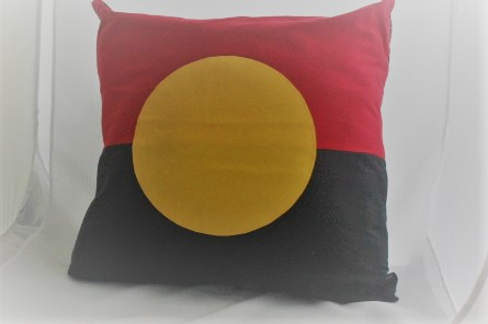 aboriginal flag cushion