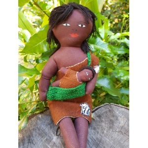 aboriginal mother and baby doll