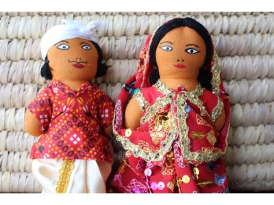 indian couple dolls