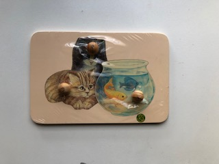 kittens and fish bowl knob puzzle