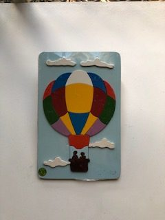 hot air balloon raised puzzle
