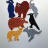 australian animals and birds felt pieces
