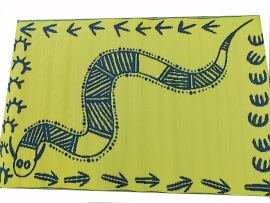 snake yellow mat