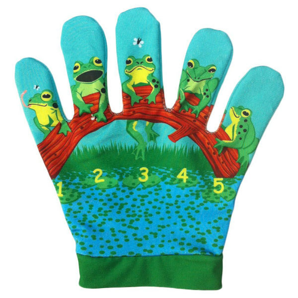 5 speckled frogs song mitt